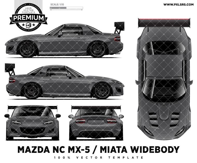 2005-2015 Mazda NC MX-5 / Miata  Widebody 'Premium' Full Template
