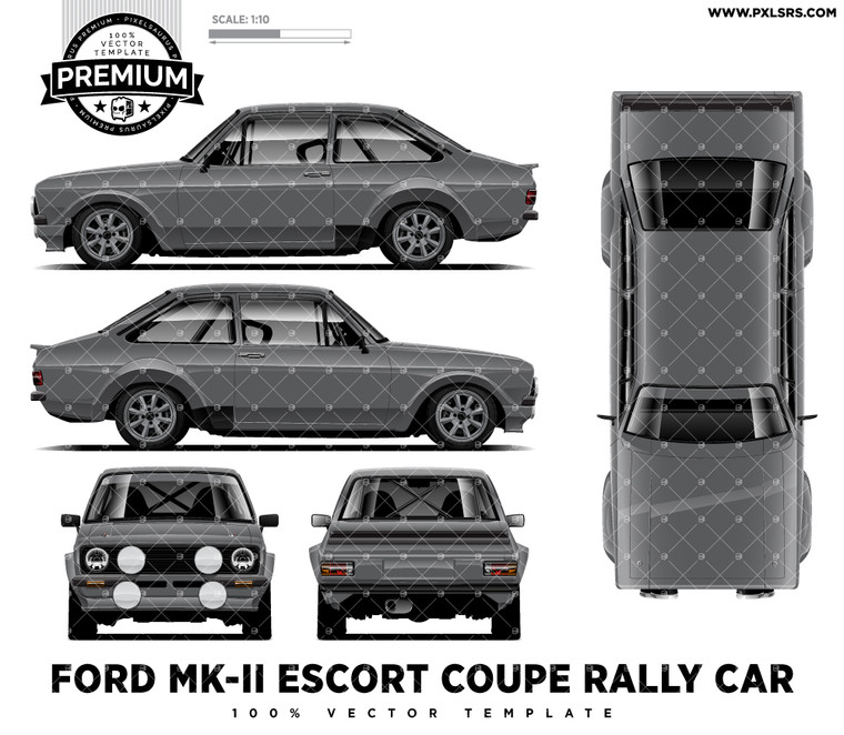 Ford MK-II Escort Rally Car - Full 'Premium' Full Template
