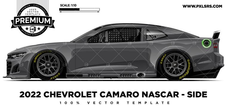 2022 Chevrolet Camaro (Gen 7) Nascar - Side 'Premium' Vector Template