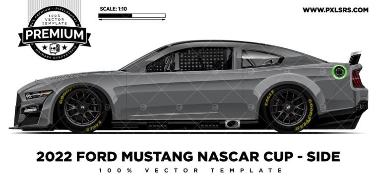 2022 Ford Mustang (Gen 7) Nascar - Side 'Premium' Vector Template