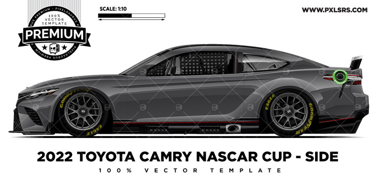2022 Toyota Camry (Gen 7) Nascar - Side 'Premium' Vector Template
