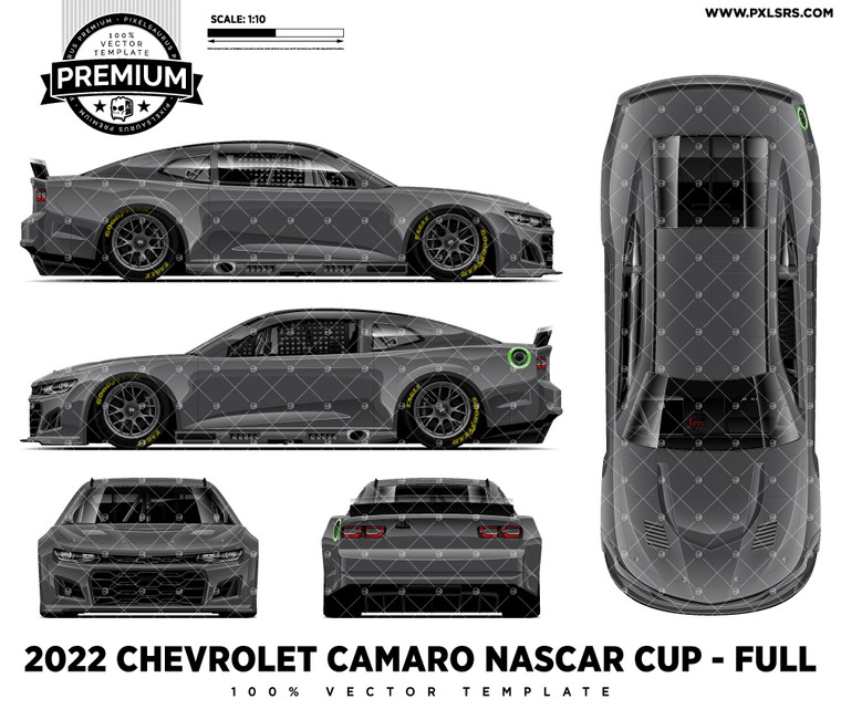 2022 Chevrolet Camaro (Gen 7) Nascar Cup - Full 'Premium' Vector Template