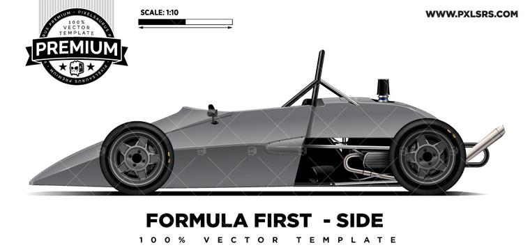 Formula First / Vee 'Premium' Vector Template
