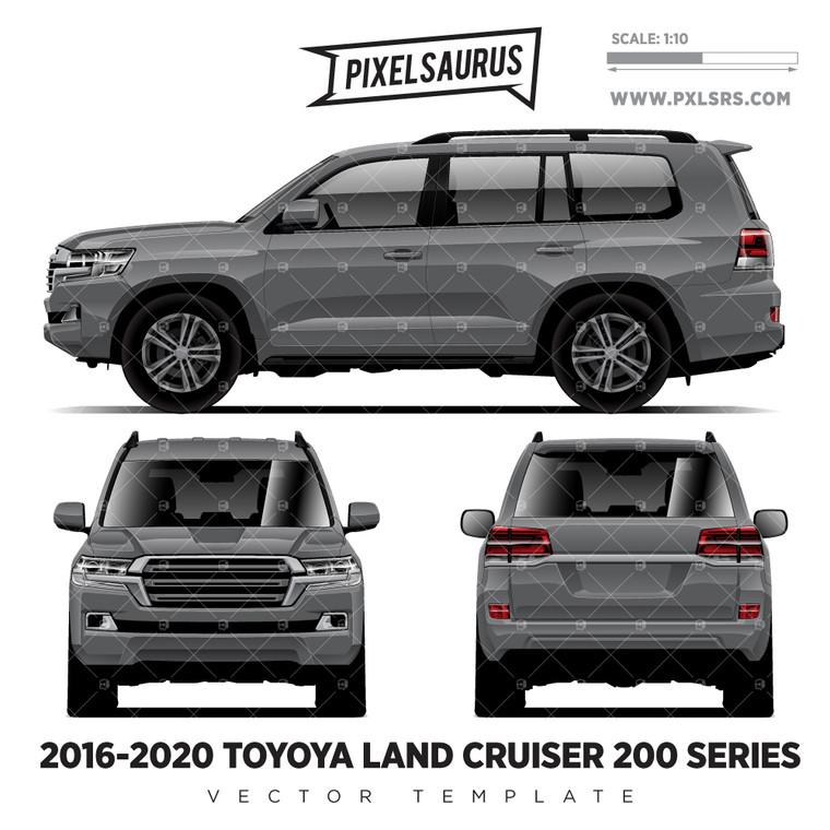 2016-2020 Toyota Land Cruiser 200-Series Vector Template