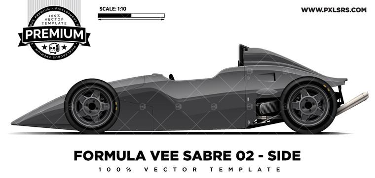 Formula First / Vee Sabre 02 'Premium' Vector Template