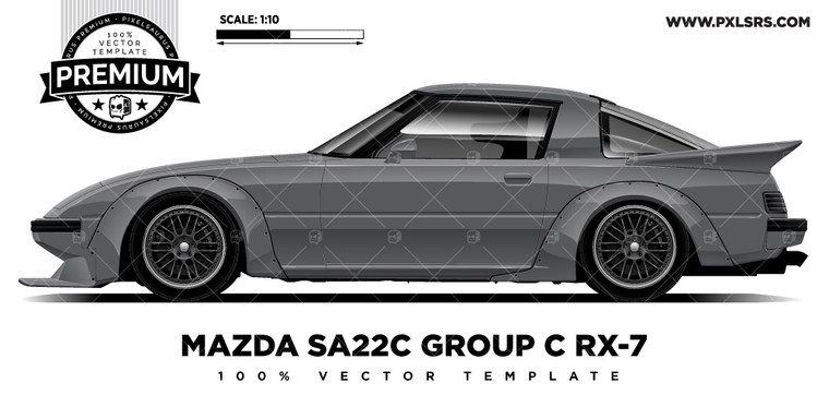 MAZDA SA22C Group C RX-7 'Premium' Vector Template