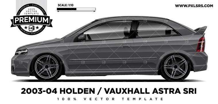2003-04 HOLDEN / VAUXHALL ASTRA SRI 'Premium' Vector Template