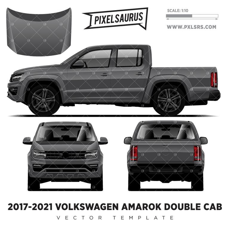 2017-2021 VW Amarok Double Cab '100% Vector' Template