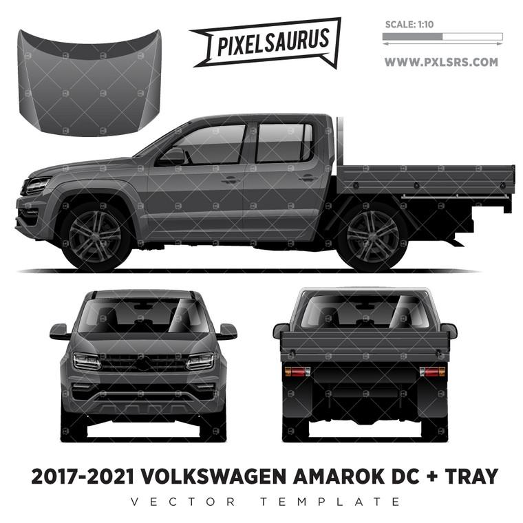2017-2021 VW Amarok Double Cab + Tray '100% Vector' Template