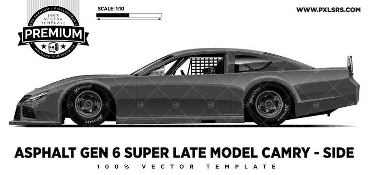 Asphalt Gen 6 Super Late model Camry  - Side 'Premium' Vector Template