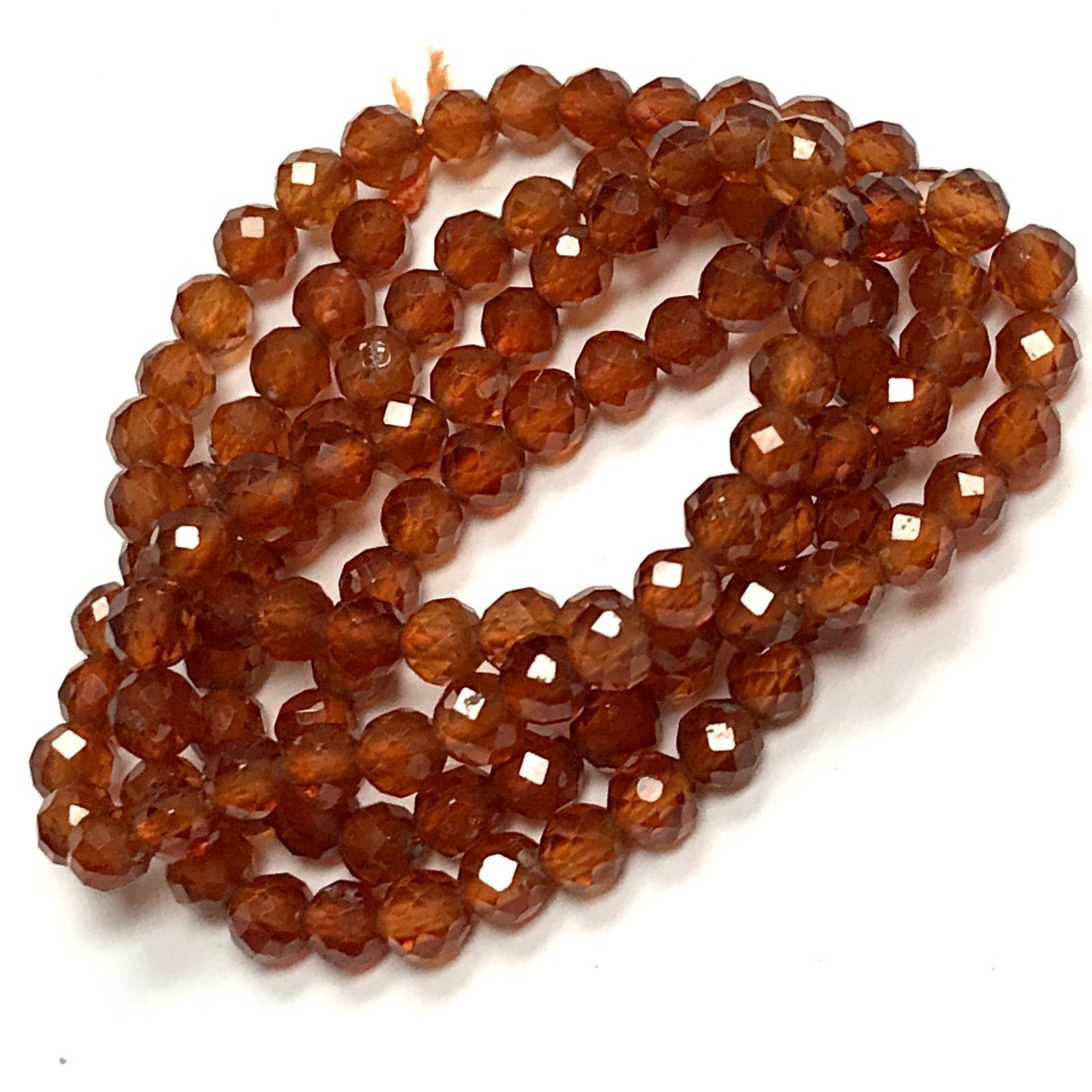 SKU#19758 Total 2 Strands of 14 Inches Full Hank of 5.5-12.5mm Hessonite Garnet Carved Melon Natural Gemstone Beads CLOSEOUT SALE