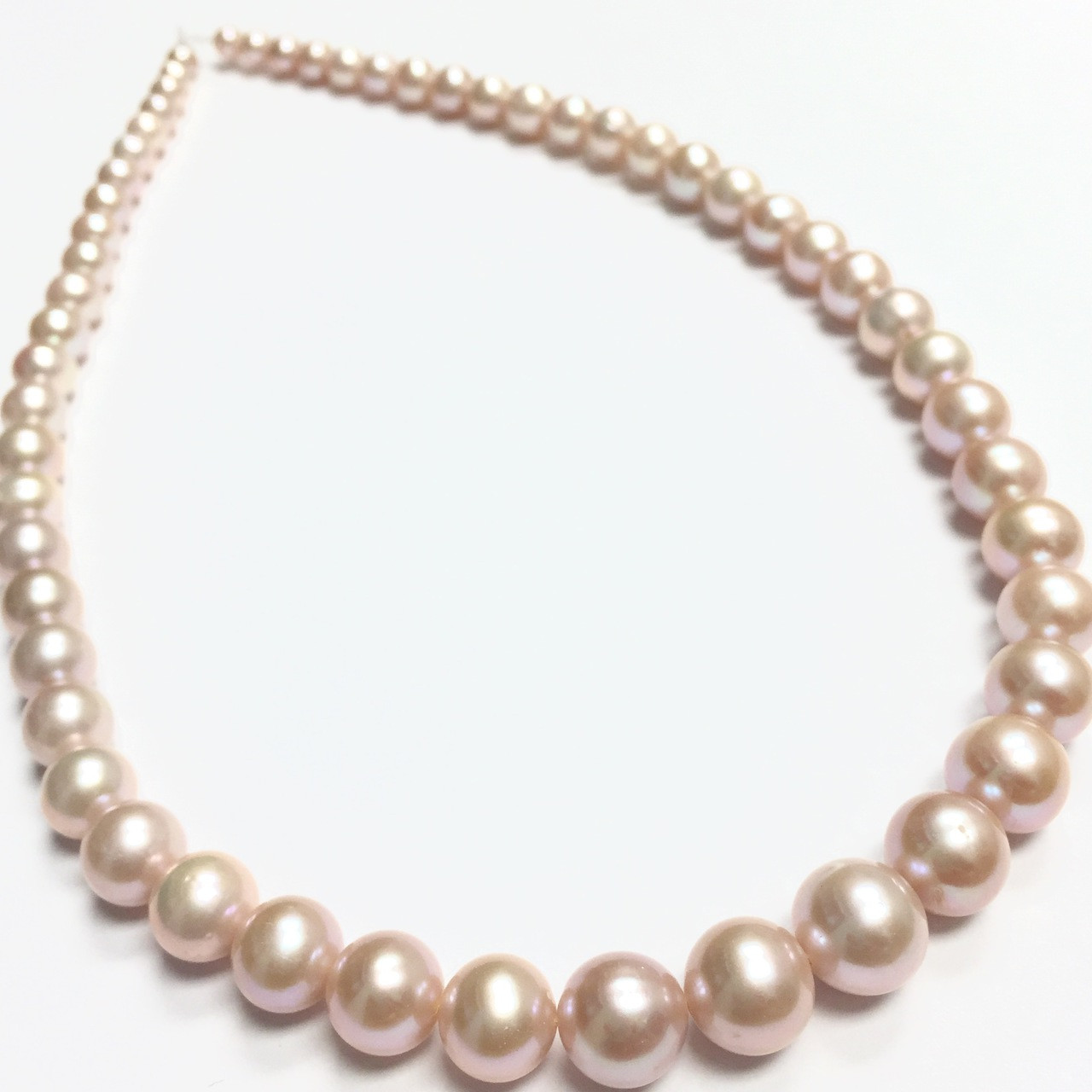 7f46e4eca Freshwater Pearl Culture | Pink Pearls Necklace | Graduated Pearl ...