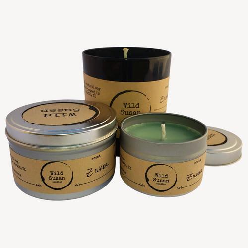 Zilker [Sandalwood + Eucalyptus + Cactus Flower] Soy Candle/Wax Melt