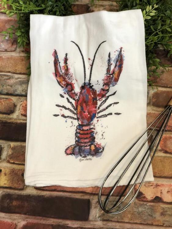Crawfish Flour Sack Towel