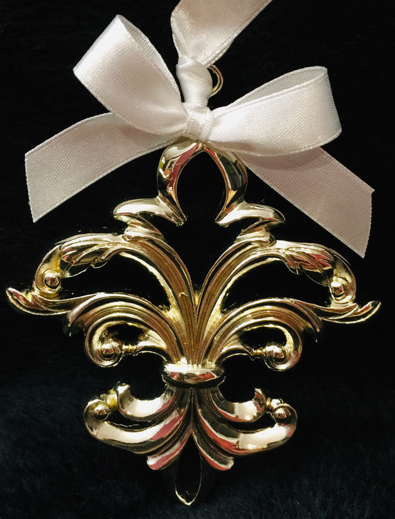 Gold Fleur de Lis Ornament