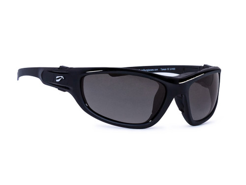 Flying Eyes Hawk Convertible - Glossy Black Frames with Solid Gray Lenses