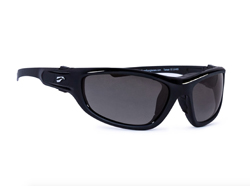Hawk Convertible - Glossy Black Frame with Solid Gray Lenses