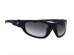 Hawk Convertible - Matte Black Frame with Gradient Gray Lenses