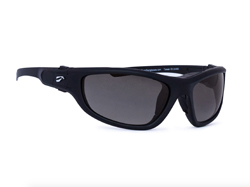 Hawk Convertible Non-Rx Bifocal - Matte Black Frame with Solid Gray Lenses