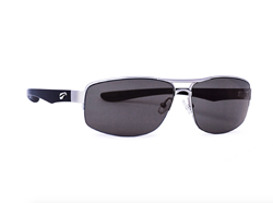Titanium Hawk Wide-Frame Aviator - Silver Frame with Solid Gray Lenses
