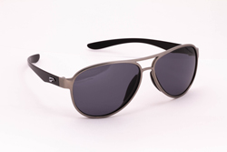 Kestrel Aviator - Silver Front Frame with Solid Gray Lenses