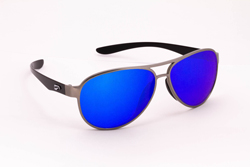 Kestrel Aviator - Silver Front Frame with Mirrored Sapphire Lenses