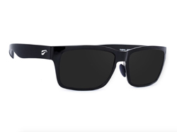 Kingfisher - Glossy Black Frame with Polarized Gray Lenses
