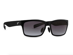 Kingfisher - Matte Black Frame with Gradient Gray Lenses