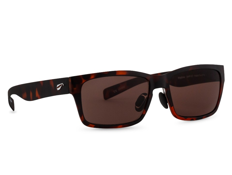 Kingfisher - Satin Tortoise Frame with Solid Copper Lenses