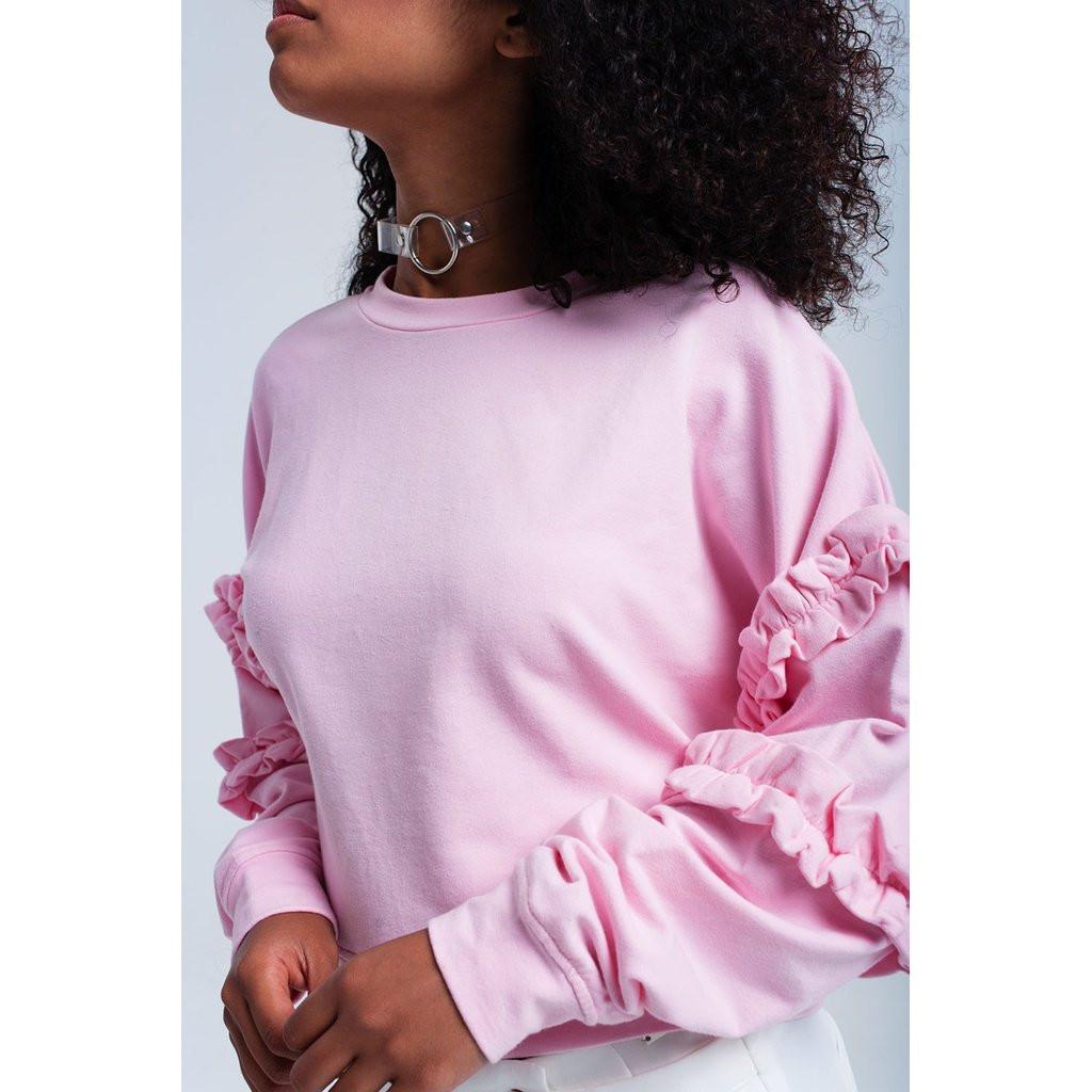 Pink Priscilla  top