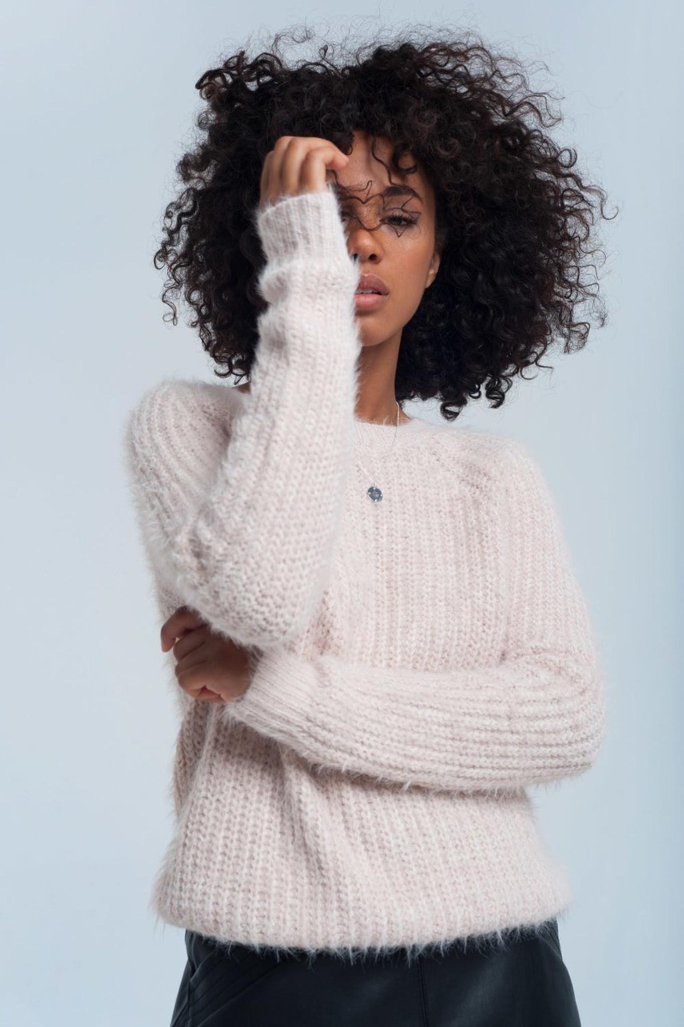 Frosty Pink knit