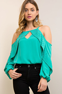 The Pippa Pleated top