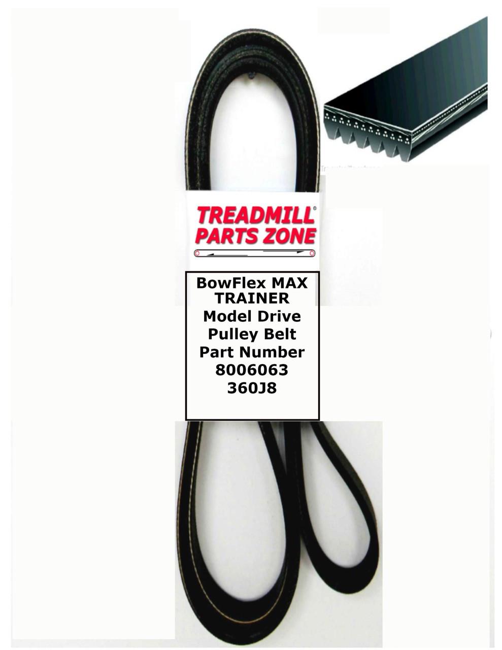 BowFlex Model MAX TRAINER M3 Drive Pulley Belt Part Number 8003146 360J8