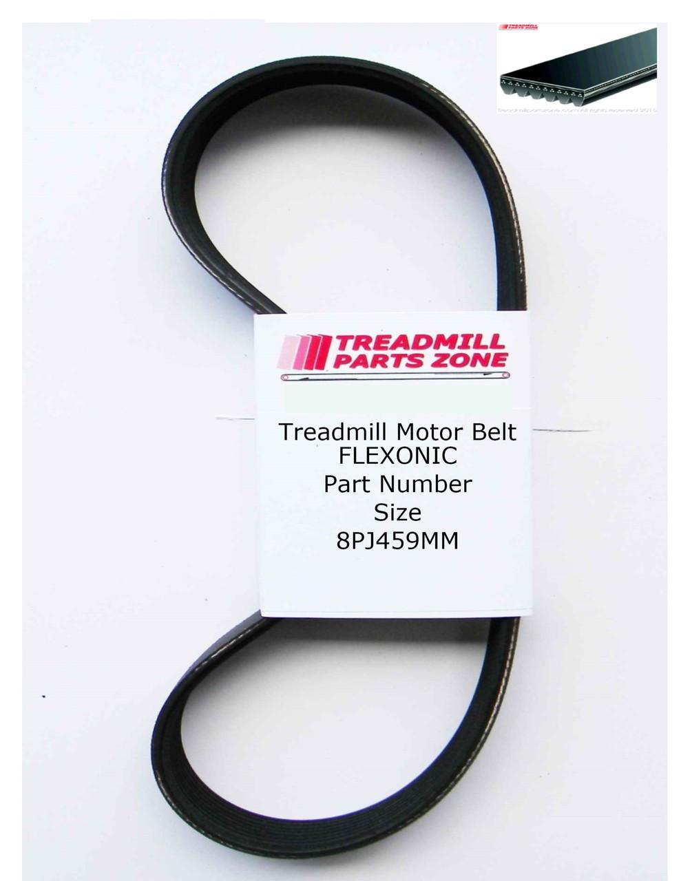 Treadmill Motor Belt Flexonic Part Number 8PJ459MM