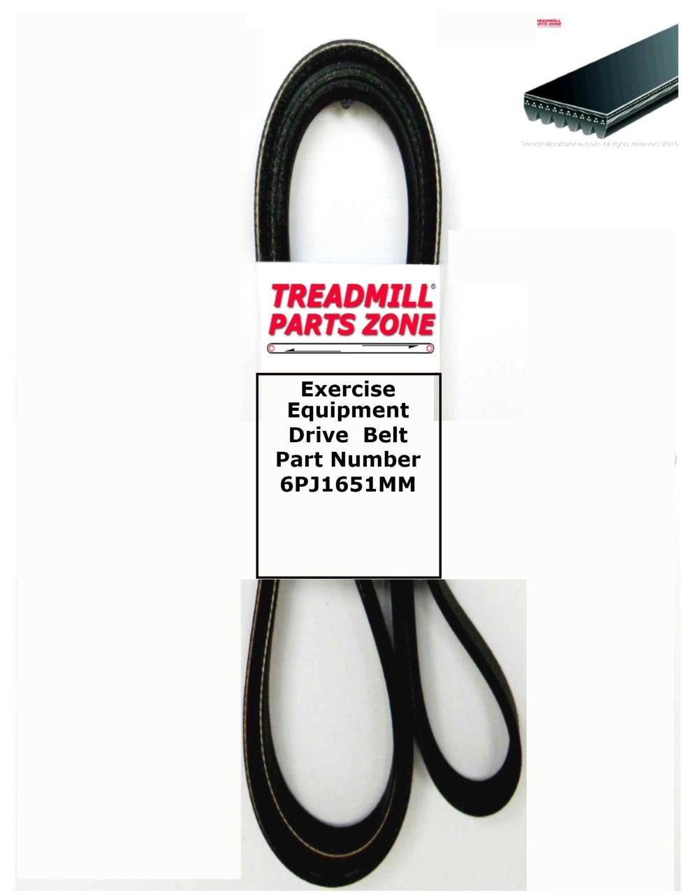 Exercise Equipment Drive  Belt Part Number 6PJ1651MM