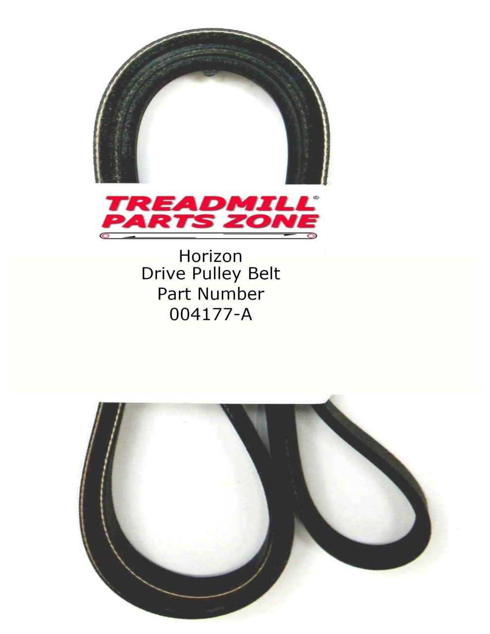 Horizon Elliptical Model EX65 EP133 Drive Pulley Belt Part Number 004177-A