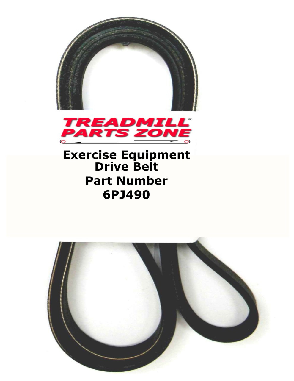 Exercise Equipment Drive Belt Part Number 6PJ490