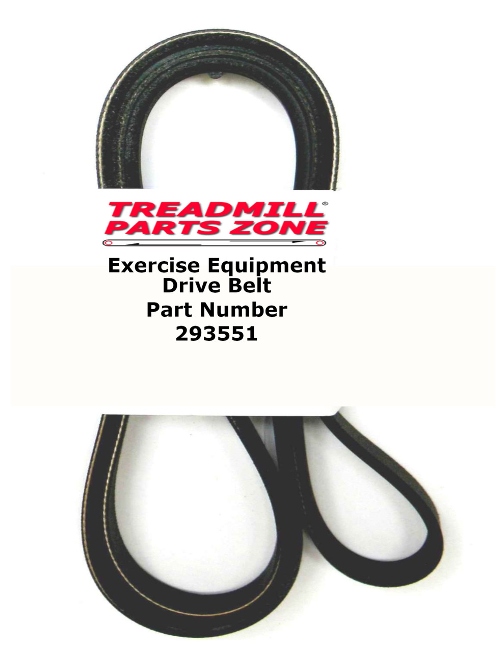 Reebok Upright Bike Model RBEX149100 TRAINER RX 4.0 Drive Belt Part Number 293551