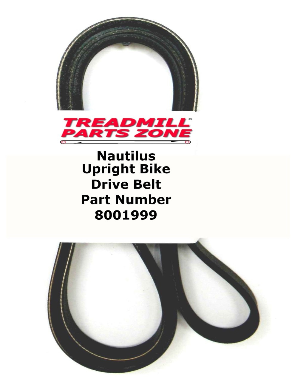 Nautilus Upright Bike Model U618 Drive Belt Part Number 8001999
