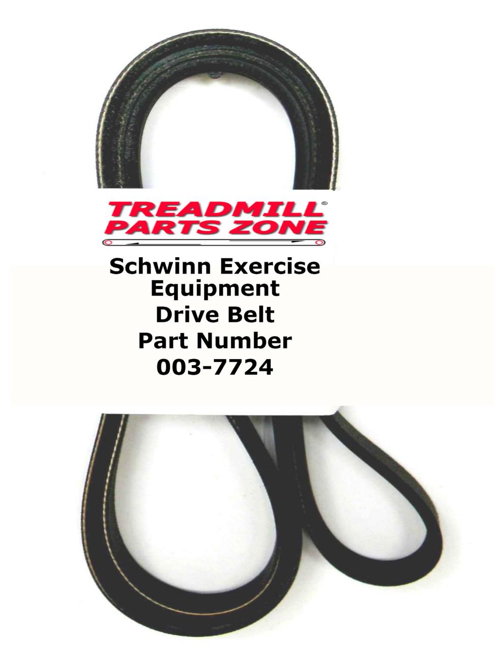 Schwinn Model A15 Upright Bike Drive Pulley Belt Part Number 003-7724