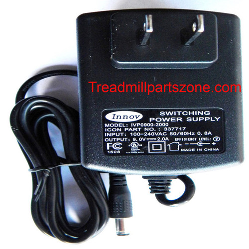 Elliptical A/C Power Adapter Part Number 337717