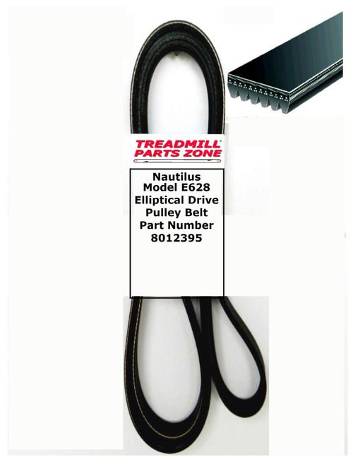 Nautilus Model E628 Elliptical Drive Pulley Belt Part Number 8012395
