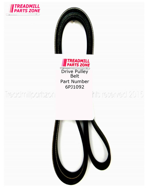 Exercise Equipment Drive  Belt Part Number 6PJ1092MM