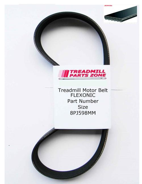 Treadmill Motor Belt Flexonic Part Number 8PJ598MM
