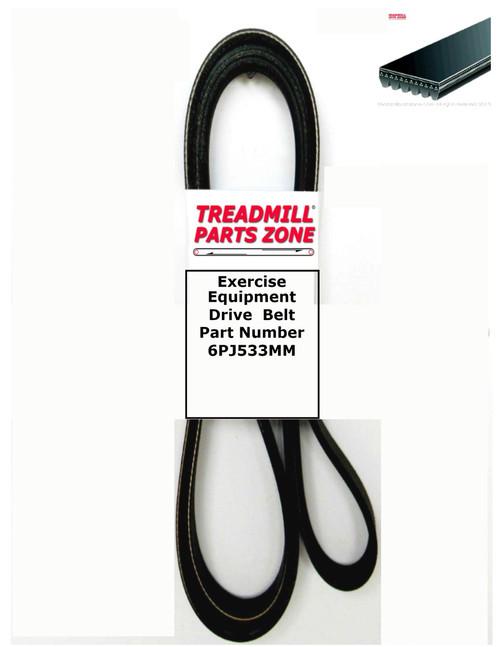 Exercise Equipment Drive  Belt Part Number 6PJ533MM