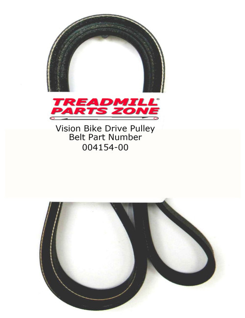 Vision Bike Drive Pulley Belt Part Number 004154-00 6 Rib Only