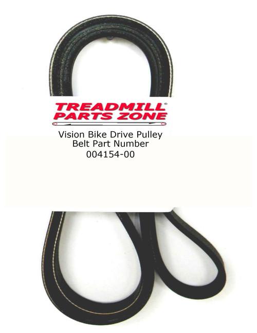Vision Bike Model R2600HRT RB59 Drive Pulley Belt Part Number 004154-00 6 Rib Only