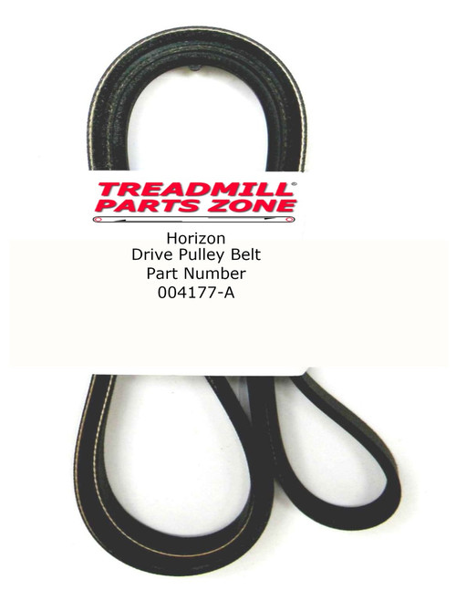 Horizon Elliptical Drive Pulley Belt Part Number 004177-A