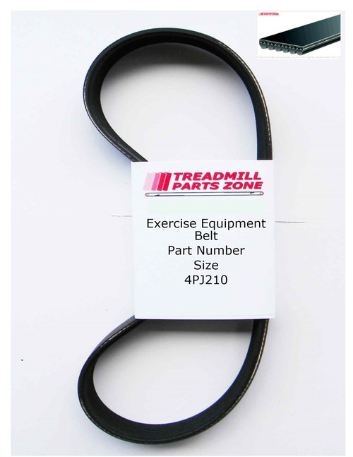 Exercise Equipment Drive Belt Part Number 4PJ210