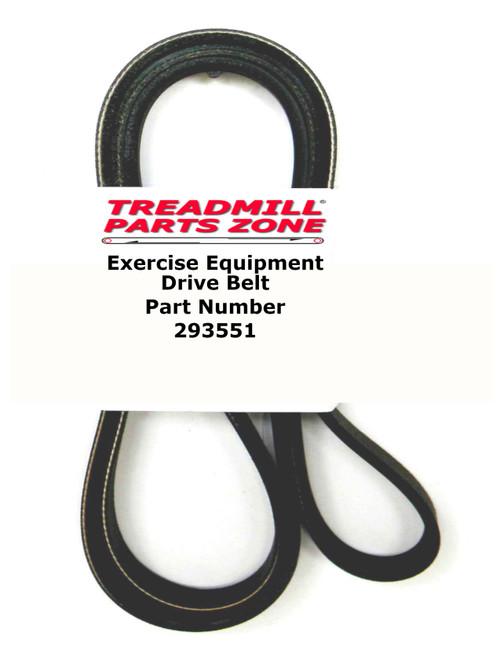 Reebok Upright Bike Model RBEX149100 TRAINER RX 4.0 Drive Belt Part Number 293551